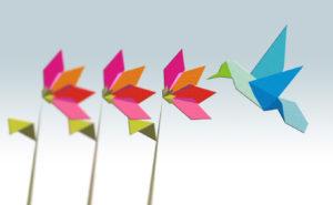flowers and bird slide